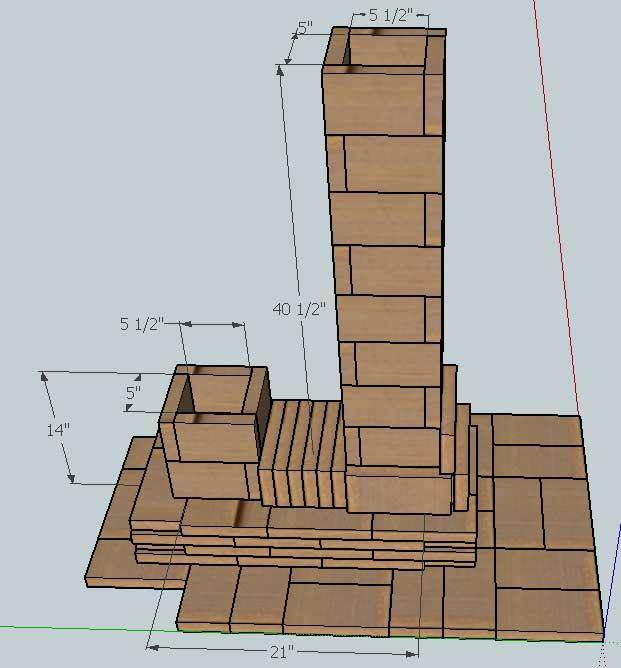 Rocket stove in a yurt rocket mass heater forum at permies for Brick rocket stove plans