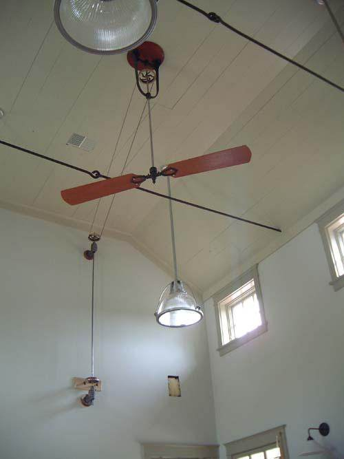 Non electric ceiling fans belt driven perpetual motion urban