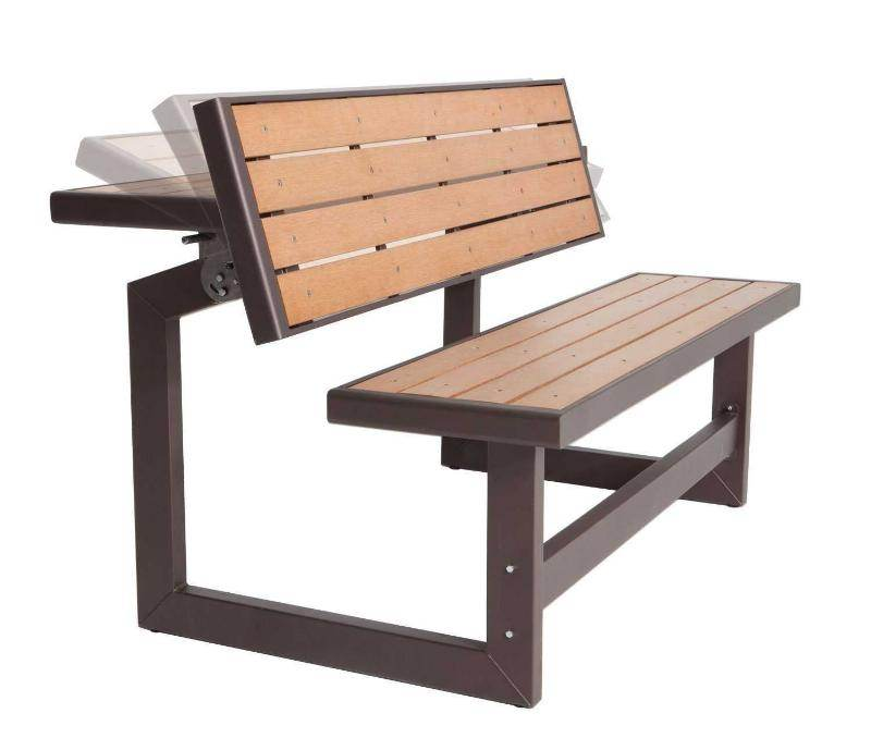 Picnic Table Ideas Some Fold Into A Bench Woodworking Forum At - Picnic table with backrest