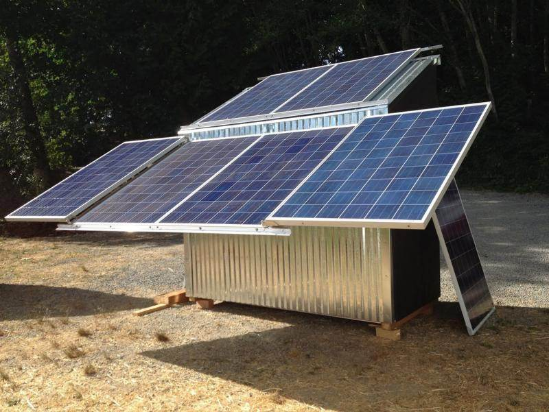 Solar Power Shed Project (solar forum at permies)
