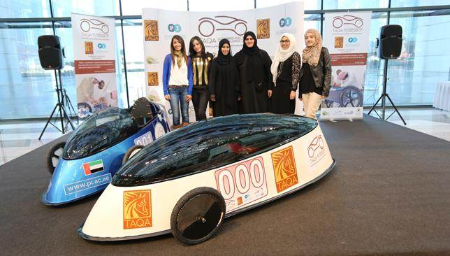 An All Women Team Of Qatari Students Won The First Gcc Hybrid Electric Vehicle Compeion Held In Abu Dhabi Over Weekend Showing Some Serious