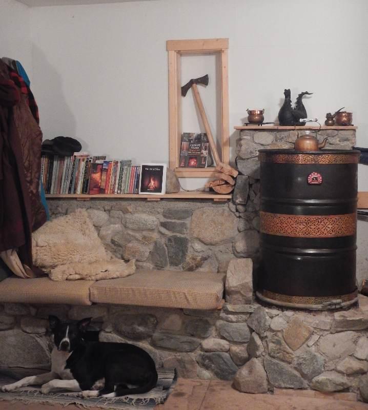Cabin 8 (rocket Mass Heater
