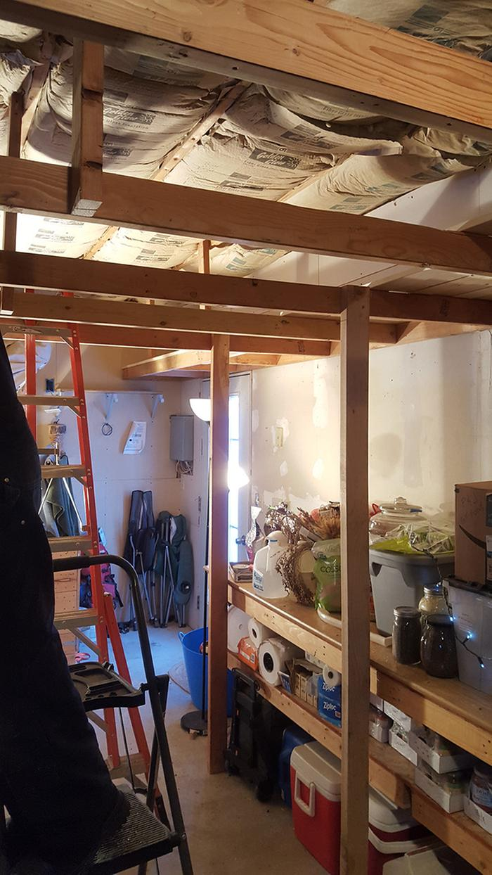 Pantry shelving project continues