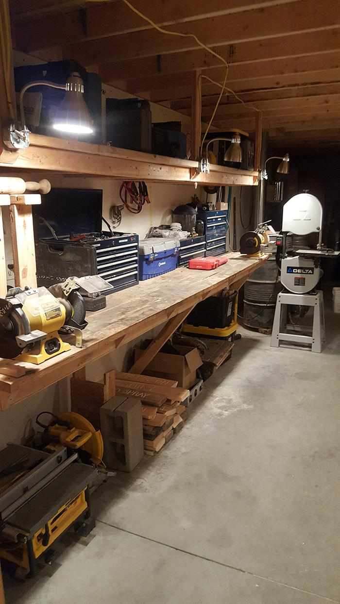 Zone II (powertools, assorted tools, band saw, grinders) // RESTORED