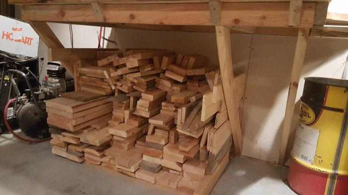 Zone III Carpentry assorted wood organized