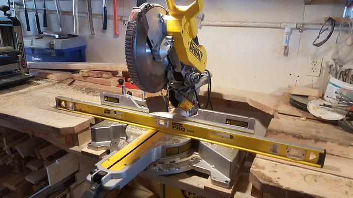 Leveled the new Miter saw with workbench