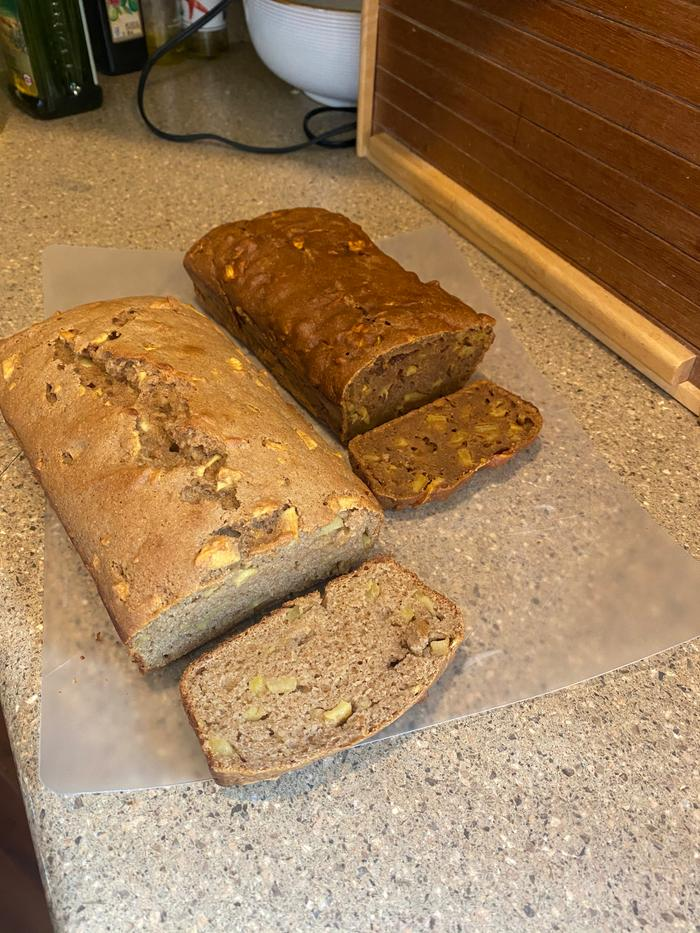 both loaves cut