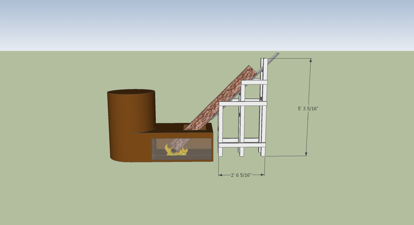 Rocket Stove Slide Allows For Burning Of 6 Foot Long Firewood Longwood Furnace Wiring Diagram Mkii Thumbnail Rmh Feed Idea