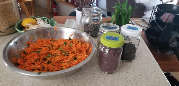 carrots grated
