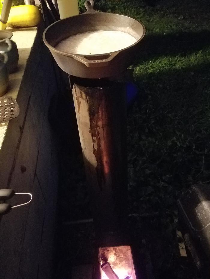 Boiling on rocket burner