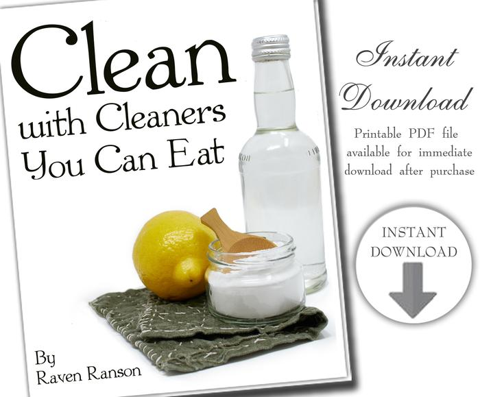 instant download - clean with cleaners you can eat