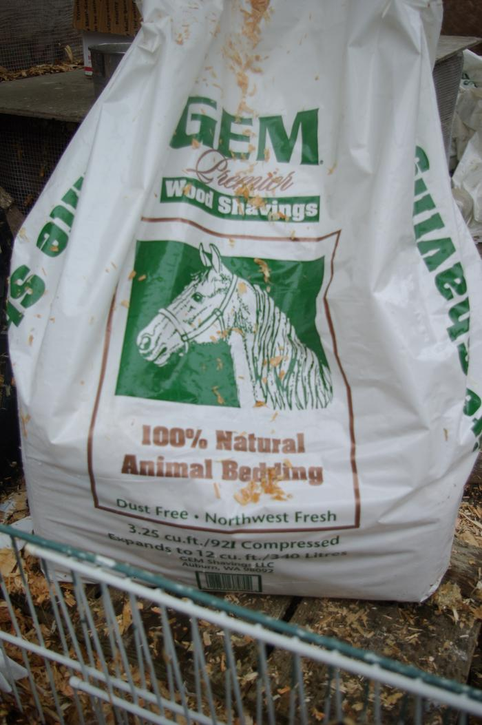 non-cedar wood shavings are recommended as bedding for ducks, since ducks are so wet