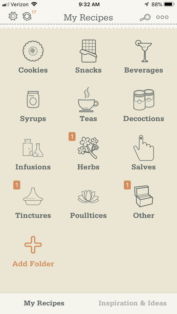 adding medicines to My Recipes app