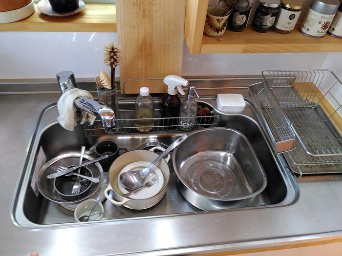 Dishes in sink