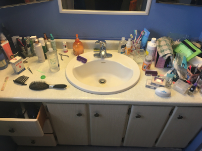Sink and Counter - Before