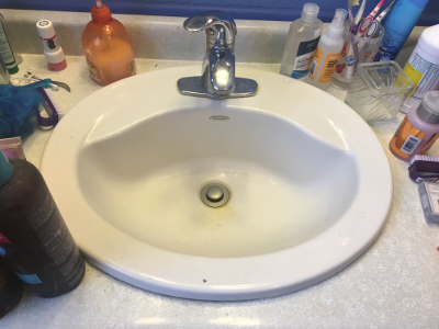 Close up of the Sink - Before