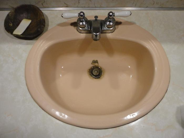 The after shot of the sink.