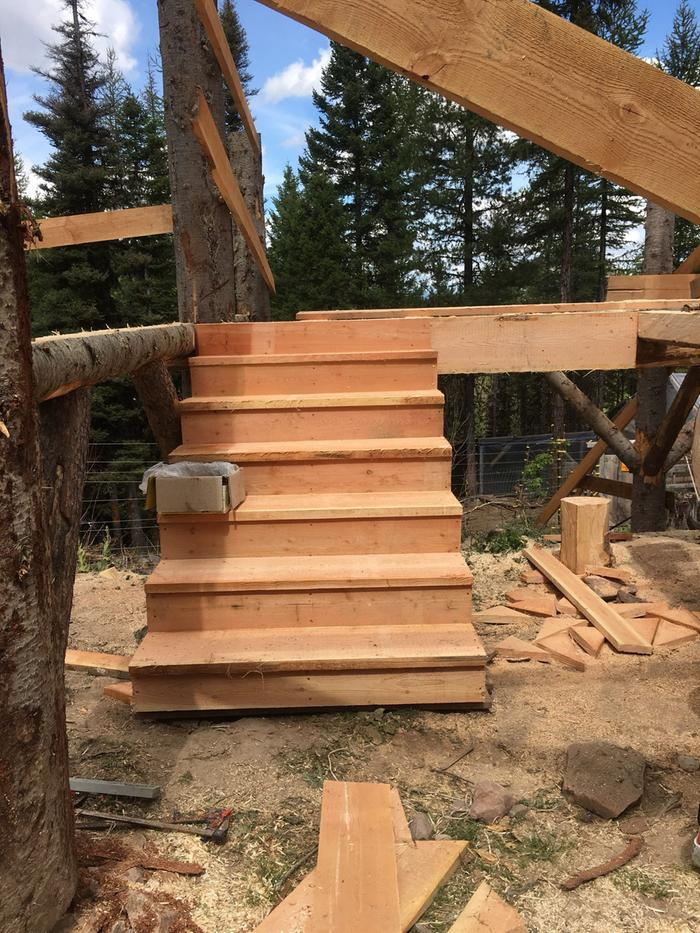 stairs up to hay deck in