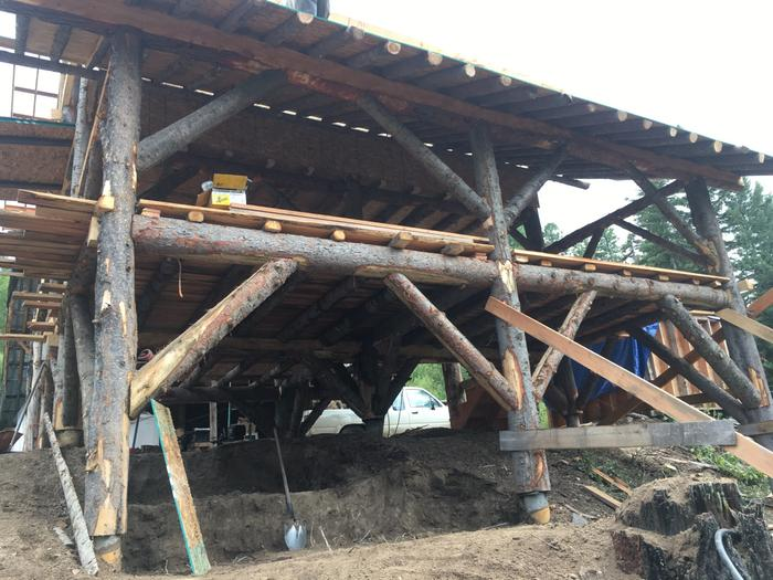 'underground' barn portion getting dug out