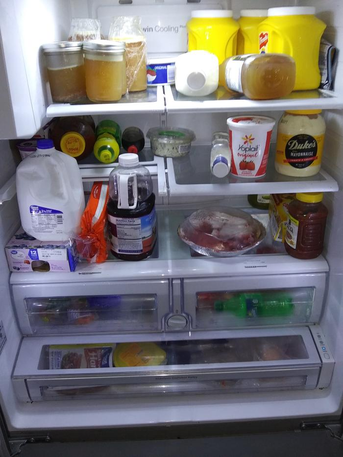 Cleaned inside of fridge