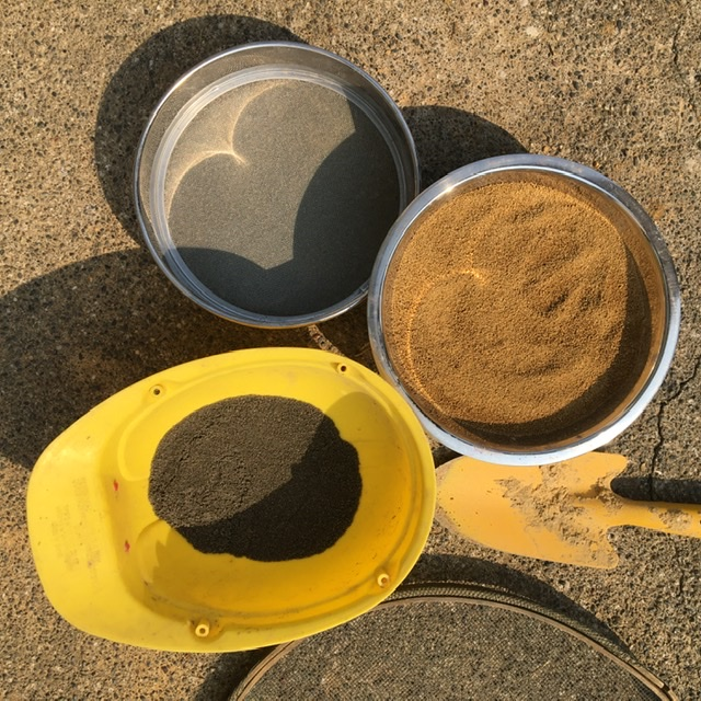 Sifted test sample materials