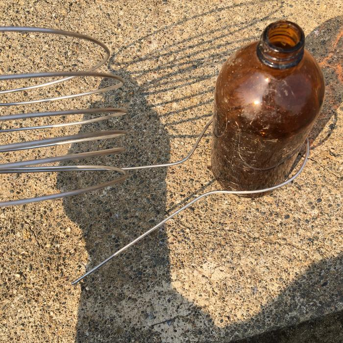 Homemade wire whisk