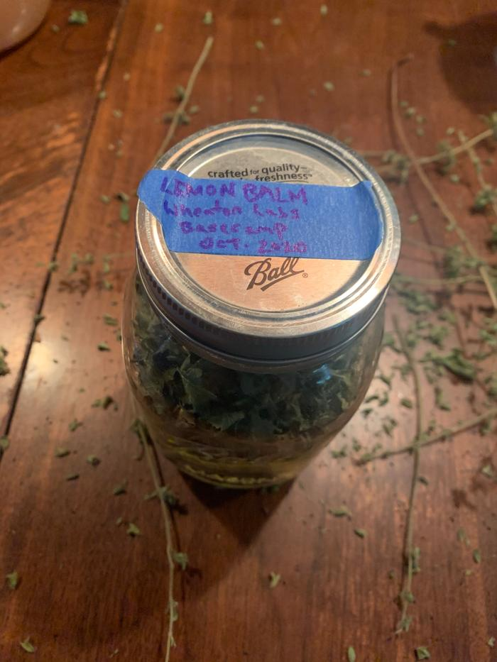 Labeled and in a jar