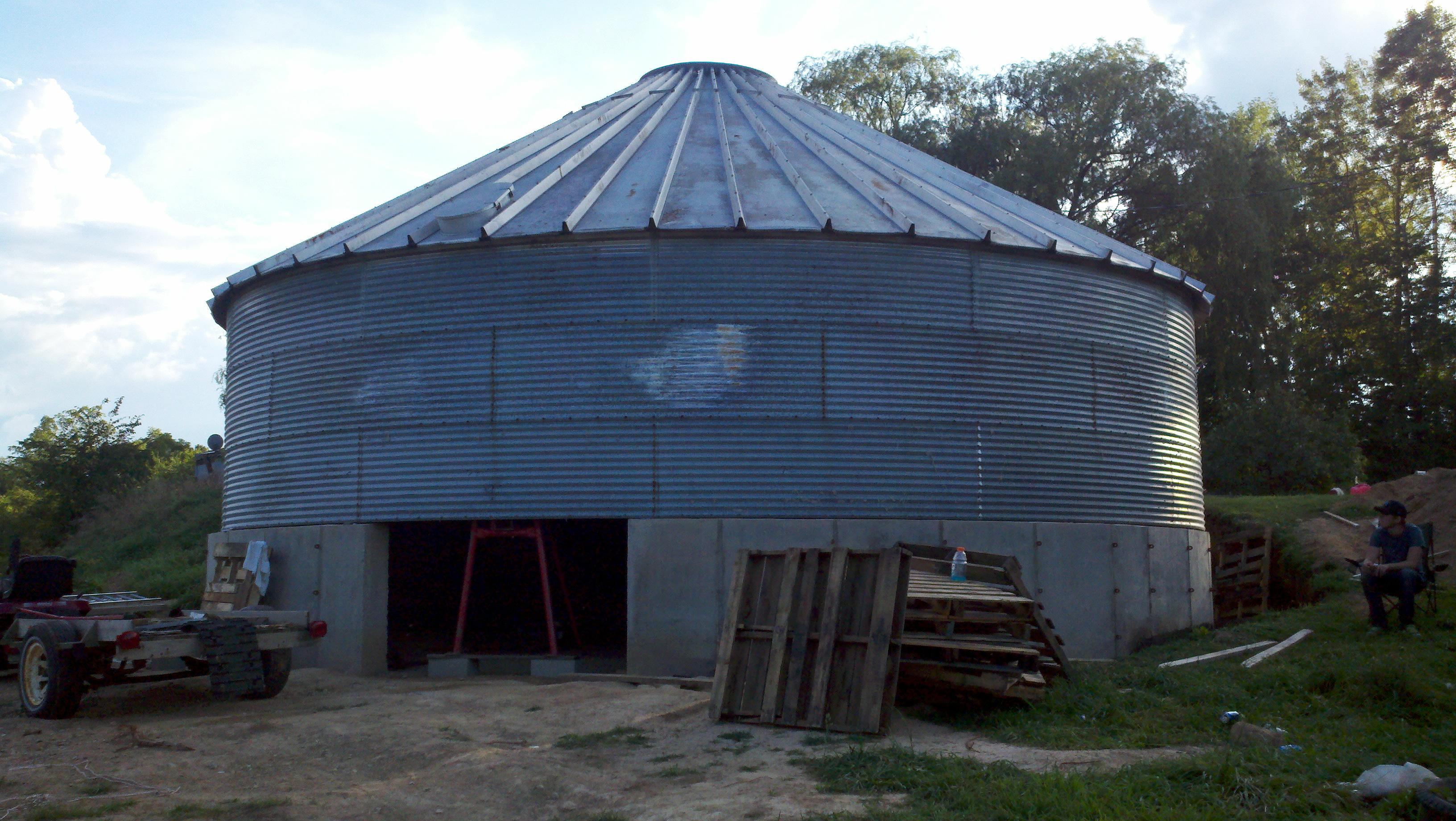 Grain Bin House Natural Building Forum At Permies