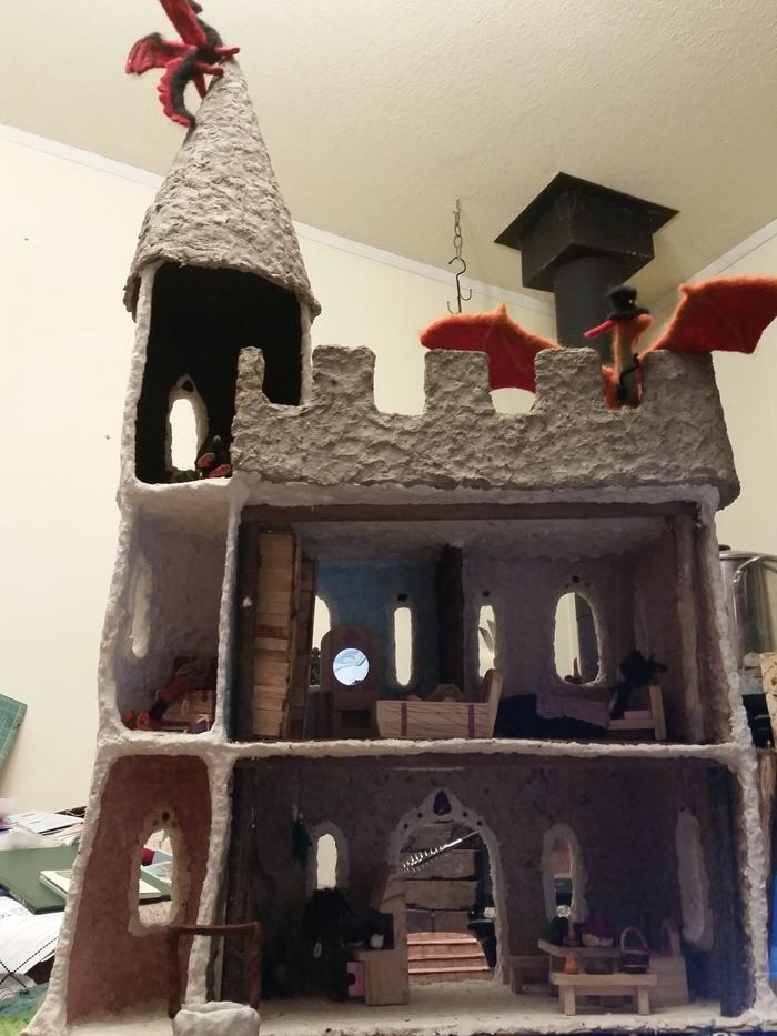 paper clay dollhouse castle