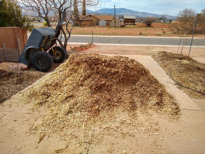 Wood chips dropped off today/feb 18th.