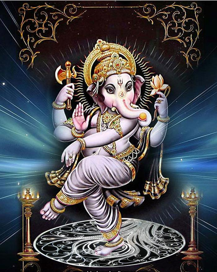 Ganesh, dancing the intricacies of the world