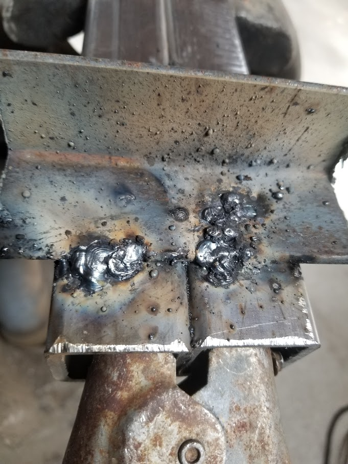 6011 weld on left