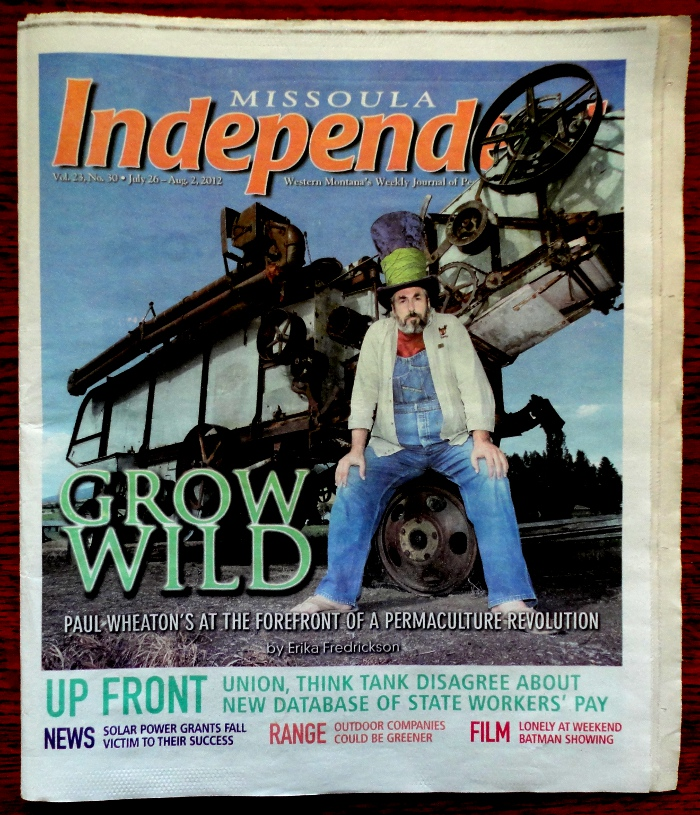 paul wheaton on the cover of missoulan independent