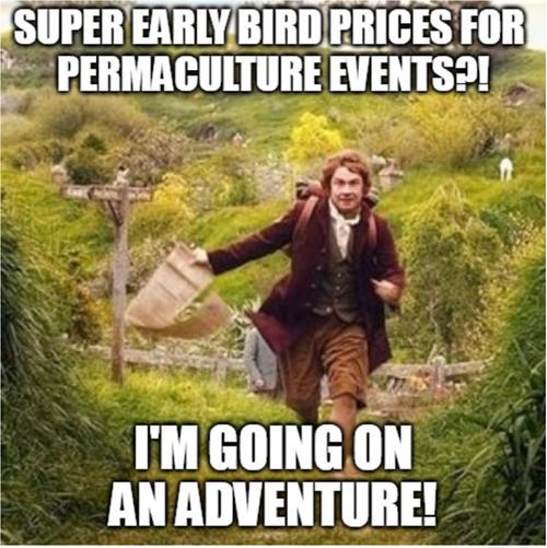 super early bird prices for the PtJ permaculture technology jamboree