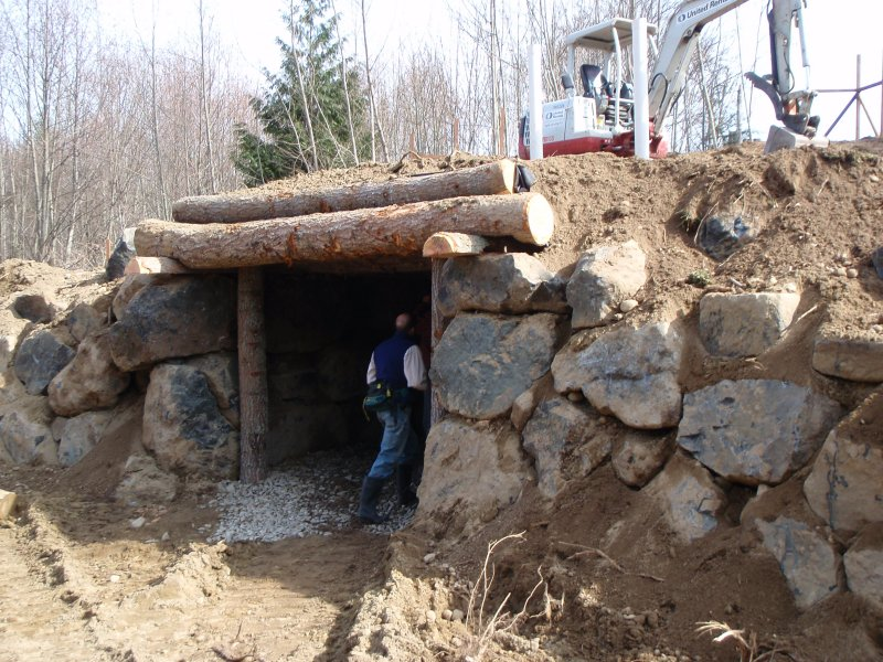 Sepp Holzer root cellar (natural building forum at permies)