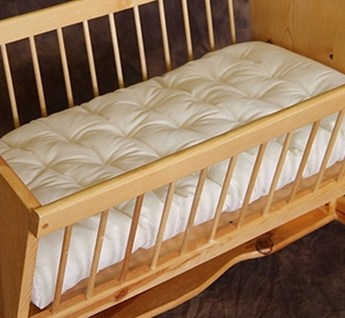 organic crib mattress and wood cradle