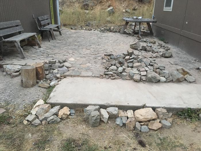 Today's progress on patio