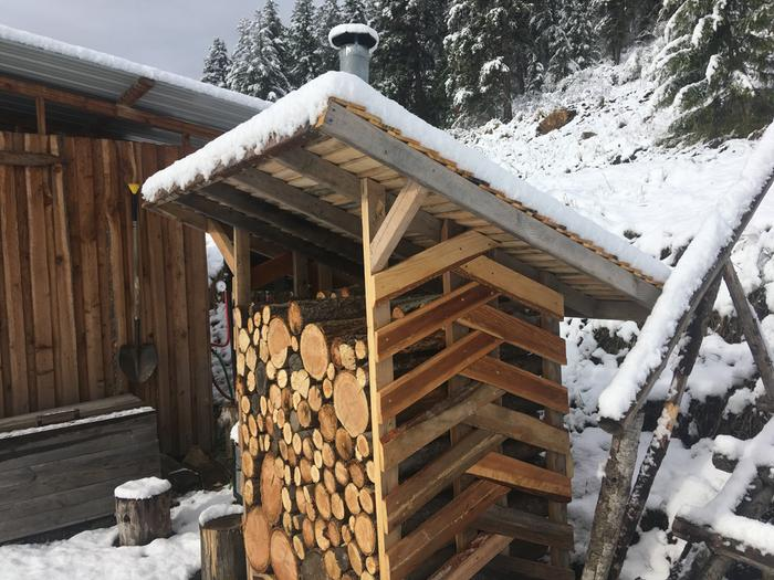 Snow test on this woodshed!