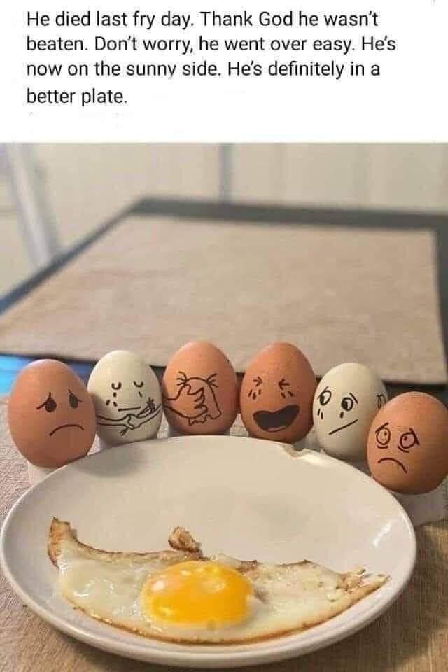Egg funeral