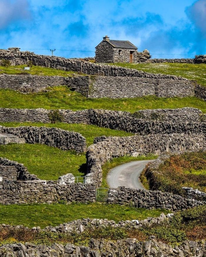 Aran Island stone walls photograph by James A. Truett
