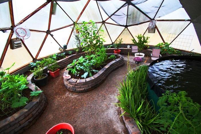 Growing Spaces Geodesic Dome Greenhouse