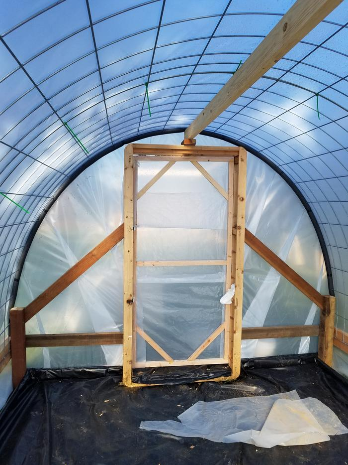 Interior of new greenhouse