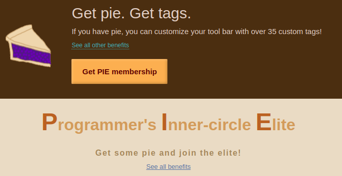 customize your tag options with pie