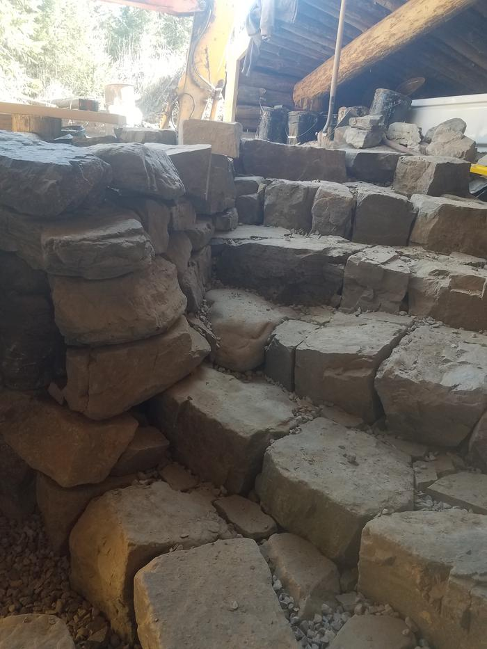 drystack stone staircase