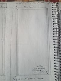 sketch of the door