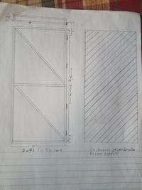 sketch of wofati greenhouse door