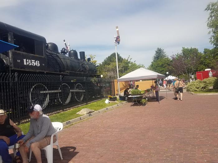 train at Missoula Market