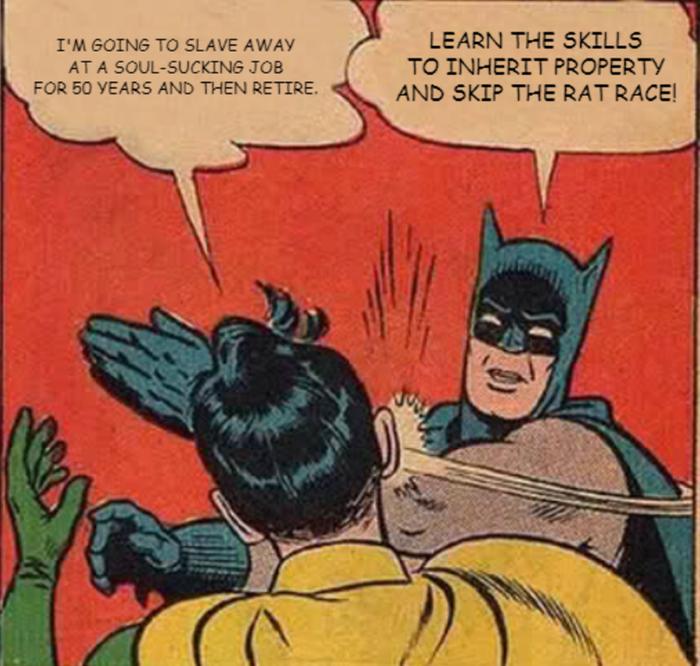 permaculture vs rat race meme