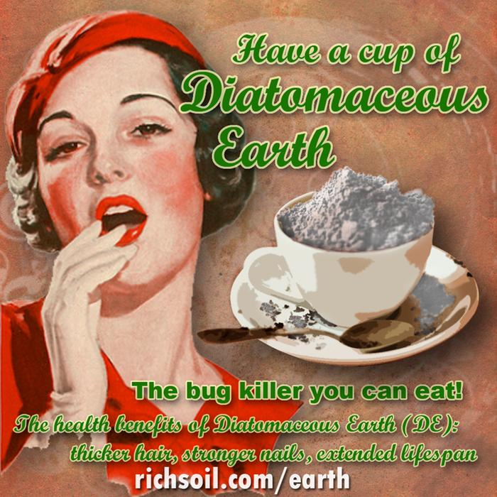 have a cup of diatomaceous earth. the bug killer you can eat. Health benefits include thicker hair, stronger nails and a longer lifespan