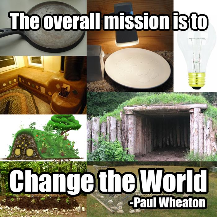 the over all mission is to change the world
